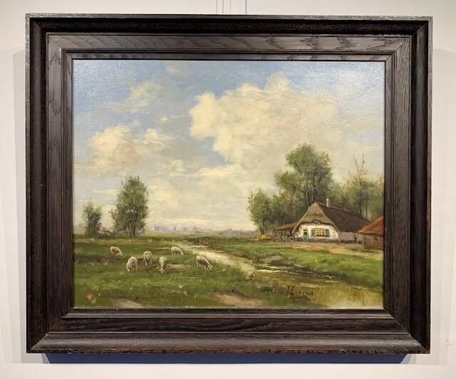 Ernens, landschap, wolken, heide, schapen