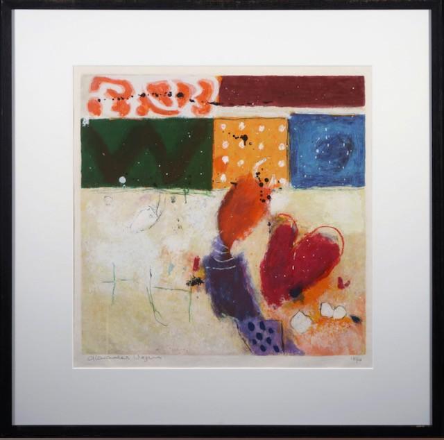 Alexander Vogels, zeefdruk, abstract, kleur, limburg