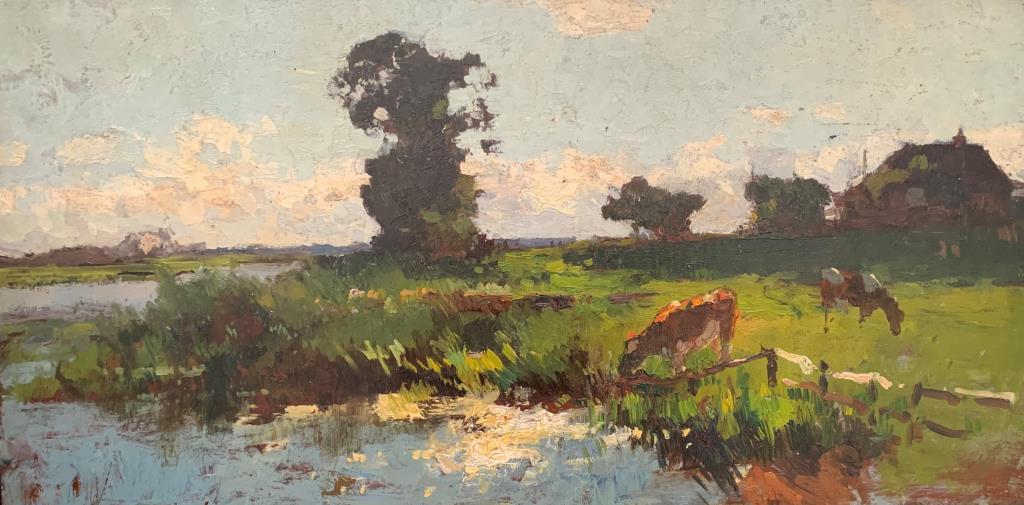 Vrredenburgh: Koeien drinken bij de rivier