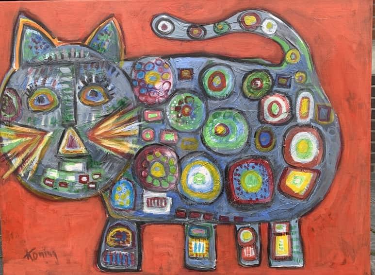 katten schilderij
