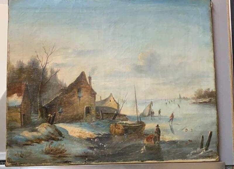nicotine aanslag schilderij verwijderen