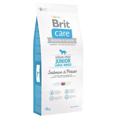 Brit Care Grain-free Junior Large Salmon Potato 12kg