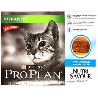 PURINA PRO PLAN Sterilised Cat Cod 10-pack