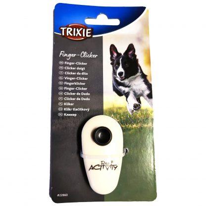 TRIXIE Dog Activity Finger Klicker Vit