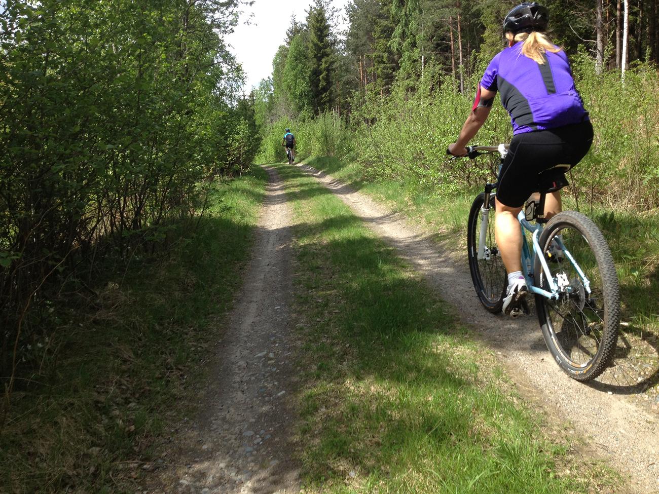 Biking in Nora