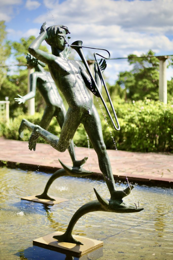 The Aganippe Fountain: the musicians (and in the background, the painter). Millesgården sculpture park, Lidingö, Sweden. Photo by Mihaela Limberea. www.limberea.com