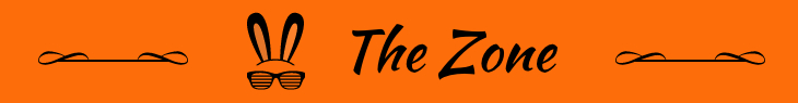 Logo of the Zone: black on orange background. Logo design by Mihaela Limberea.