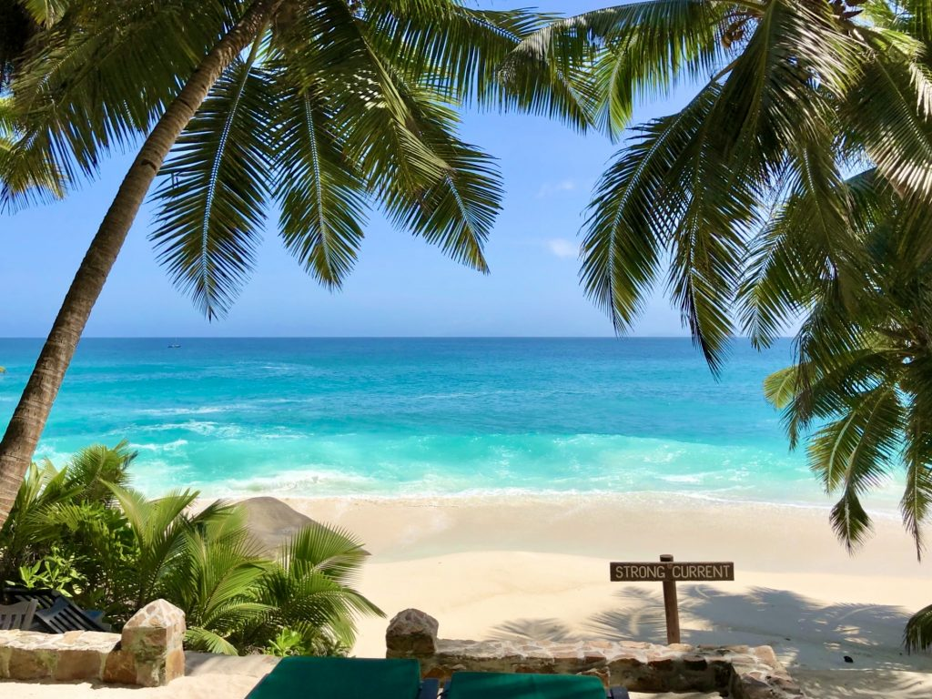 Anse Victorin beach on Fregate Island in Seychelles. Photo by Mihaela Limberea