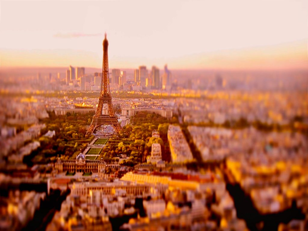 View of the Eiffel Tower and Montmartre in Paris. Photo by Mihaela Limberea.