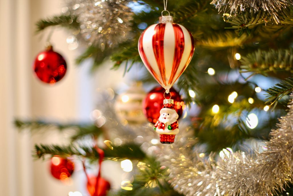 Close up of Santa ornament. Photo by Mihaela Limberea