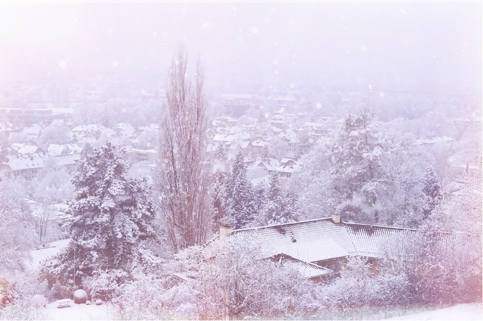 Winter town panorama . Photo by Mihaela Limberea
