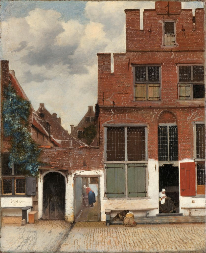 View of Houses in Delft, Known as 'The Little Street' by  Johannes Vermeer, 1658.