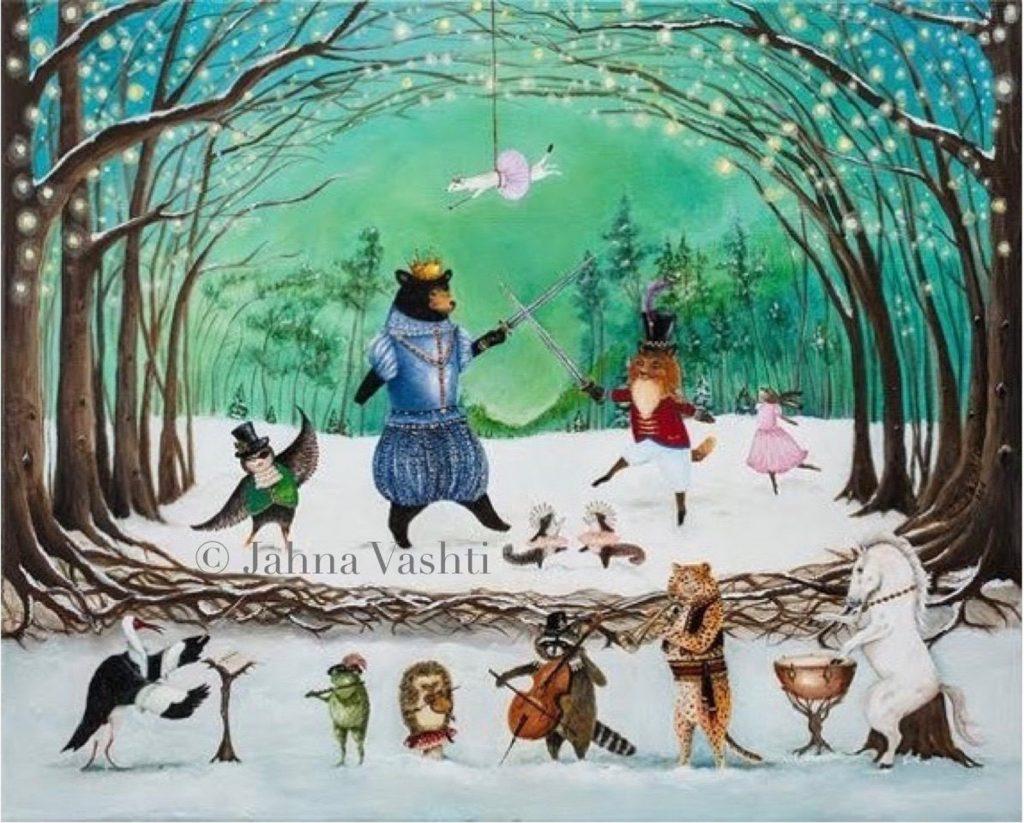 Waltz of Winter, illustration by Jahna Vashti