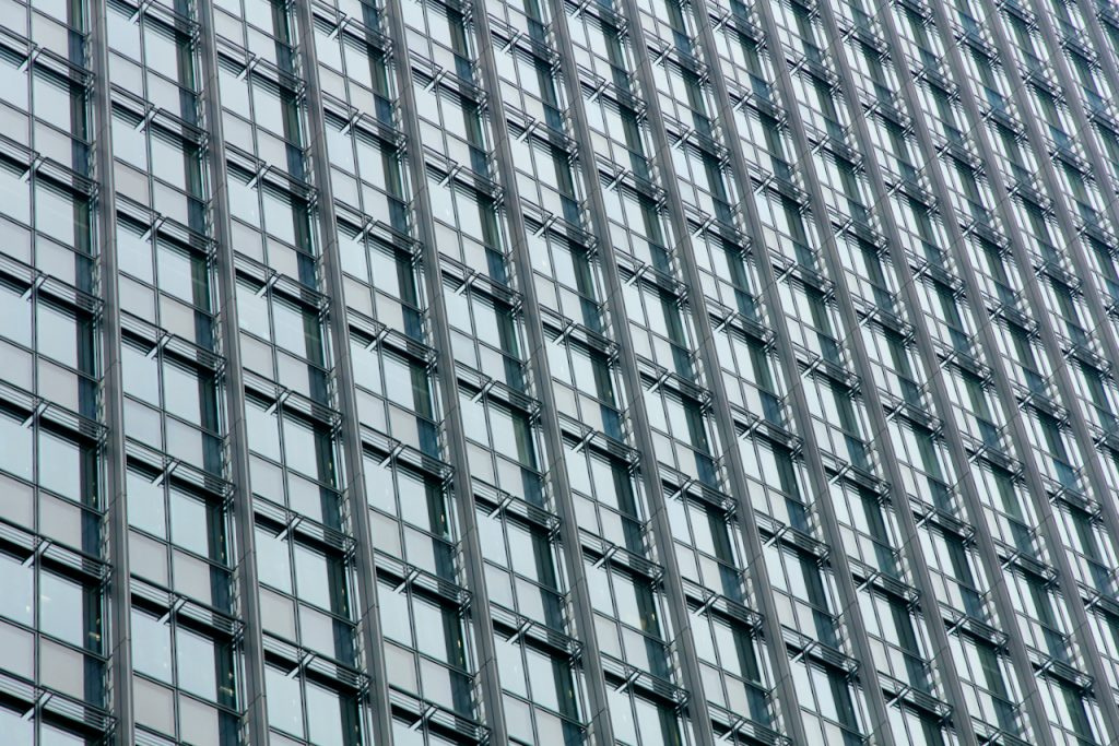 Close up of a skyscraper in Tokyo, Japan. Photo by Mihaela Limberea