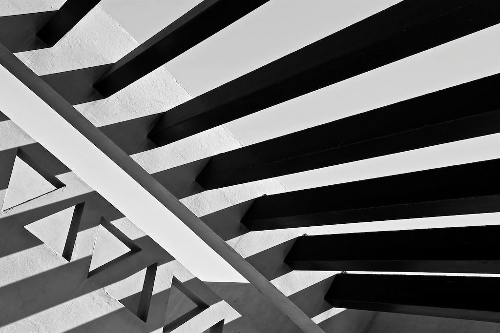 Lines. Black and white abstract photo by Mihaela Limberea.