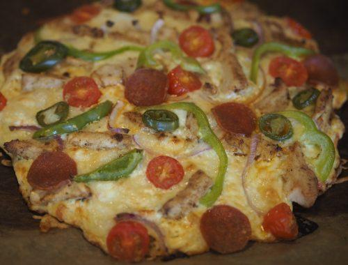 lavkarbopizza med kylling