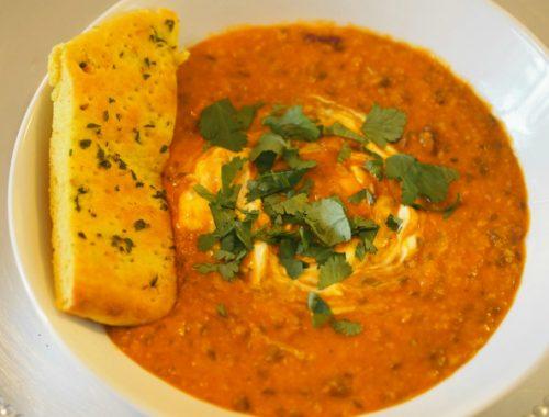 Dal makhani - Indisk vegetarisk! - klar til å spises.