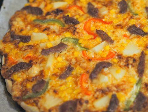 New Orleanes pizza ferdig stekt