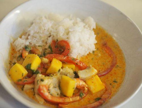 torsk i rød curry