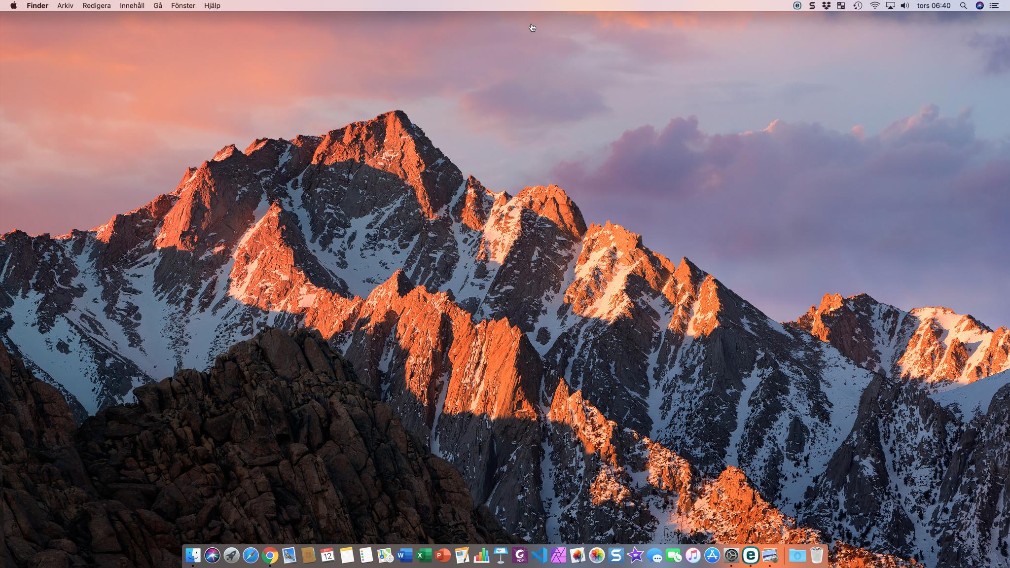 Skrivbordet i macOS