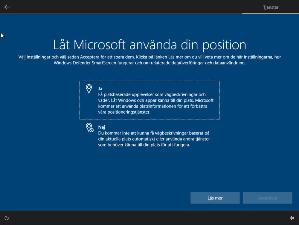 Låt Microsoft använda din position
