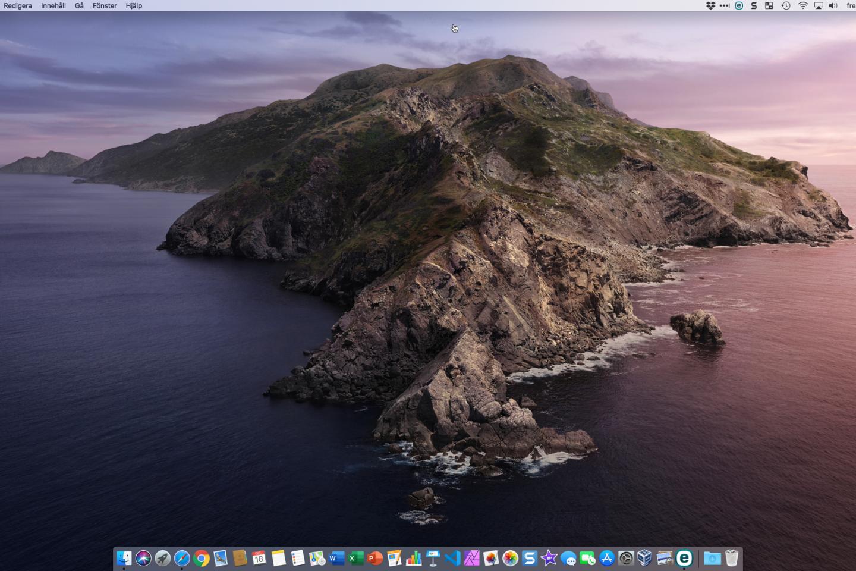 Min dator med macOS Catalina