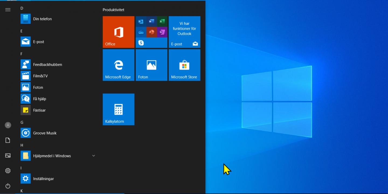 Windows 10 Start-meny