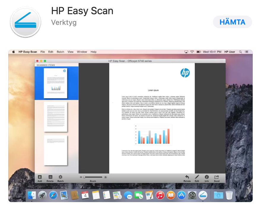 HP Easy Scan i Appstore