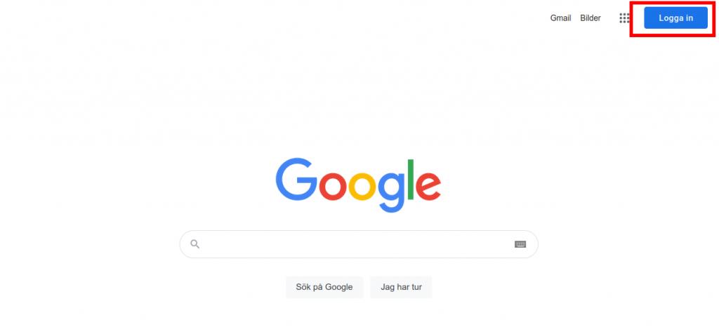 Här kan du logga in i ditt Google-konto.