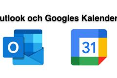 Outlook och Google kalendern