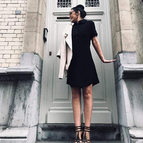 lingerie-femina-Sint-Niklaas-nancy-met-zwarte-jurk