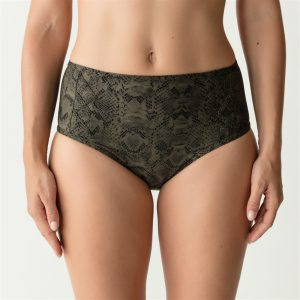 Prima Donna Swim Freedom Bikini slip – tailleslip Kaki snakeprint