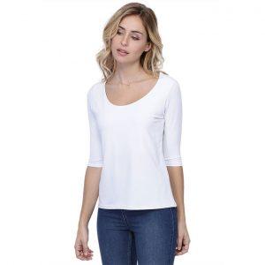 Rendez-Vous Paris T-Shirt Ronde Hals 3/4 Mouw Wit