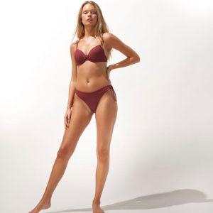 Watercult Solid Crush Bikini Slip Robijnrood