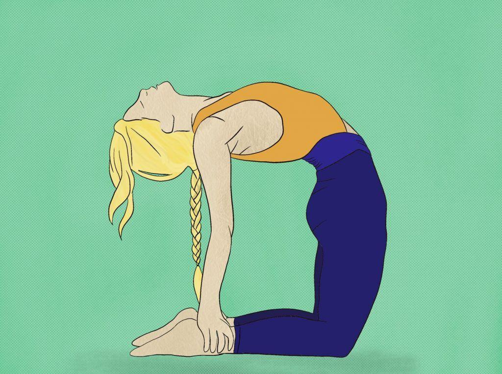 illustration yoga pose