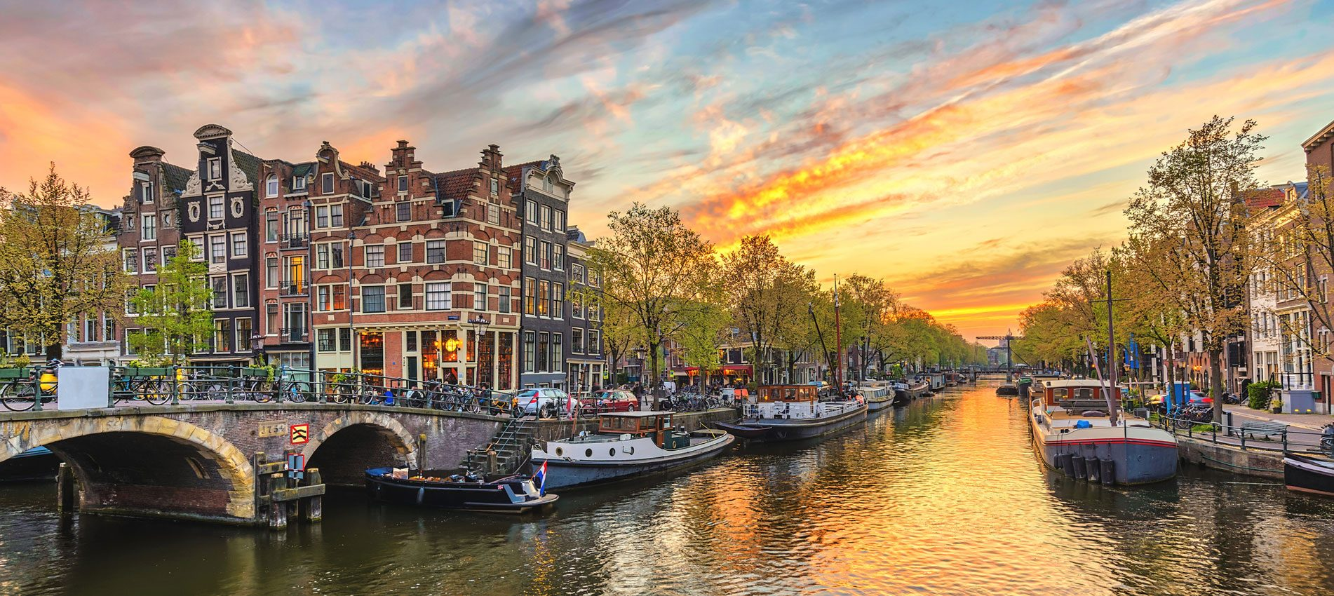 Amsterdam sunset Tourism in The Netherlands