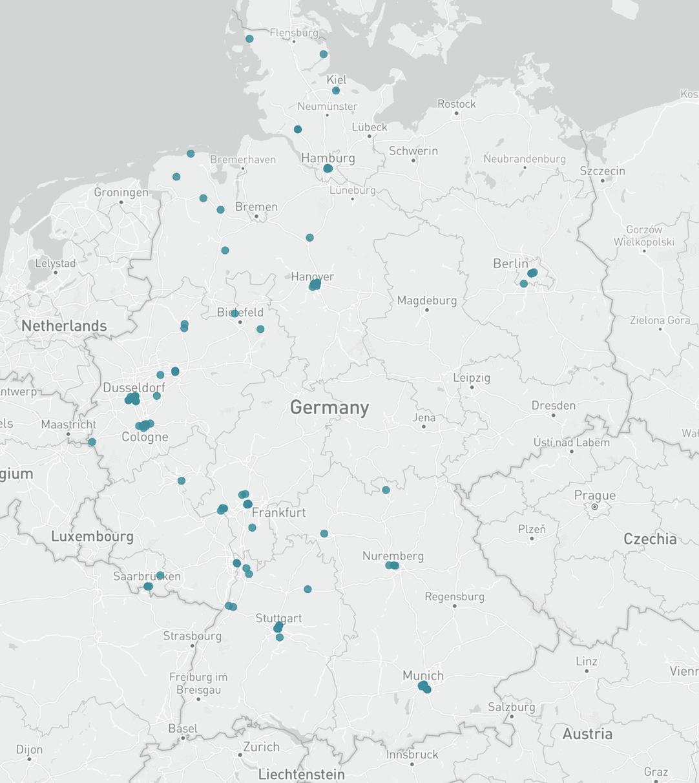 Karte Versicherungen Deutschland
