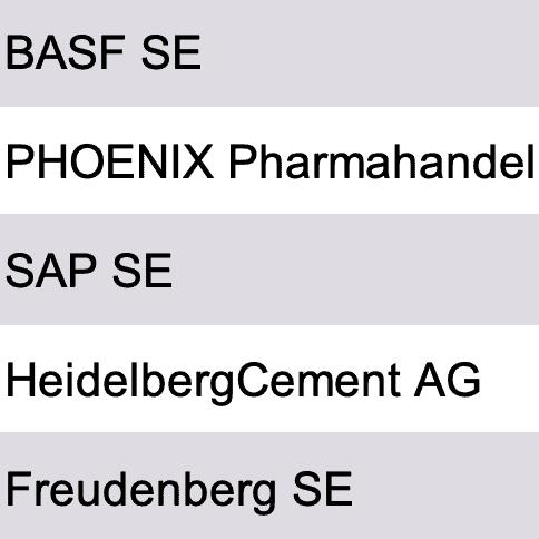 Größte Firmen Rhein-Neckar