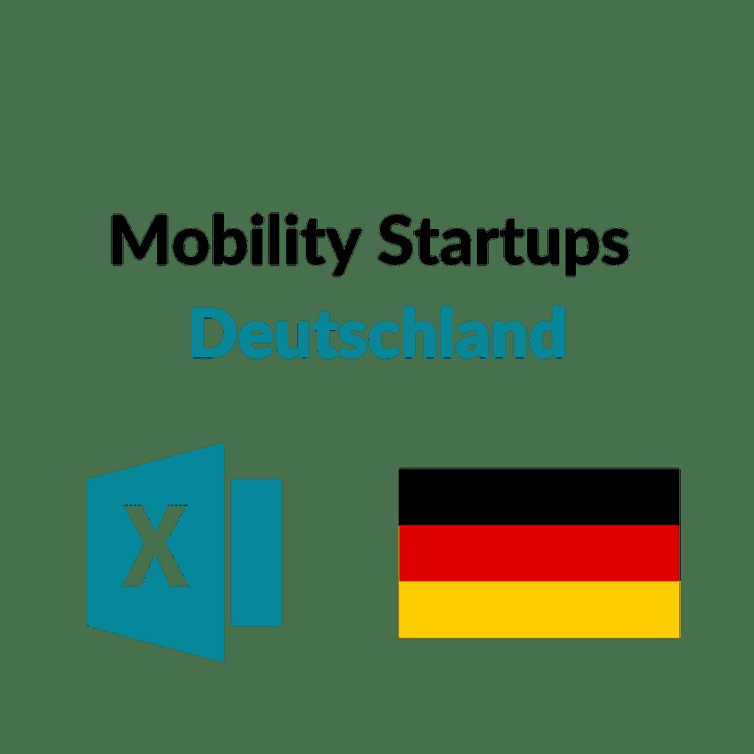 Liste Mobility Startups Deutschland
