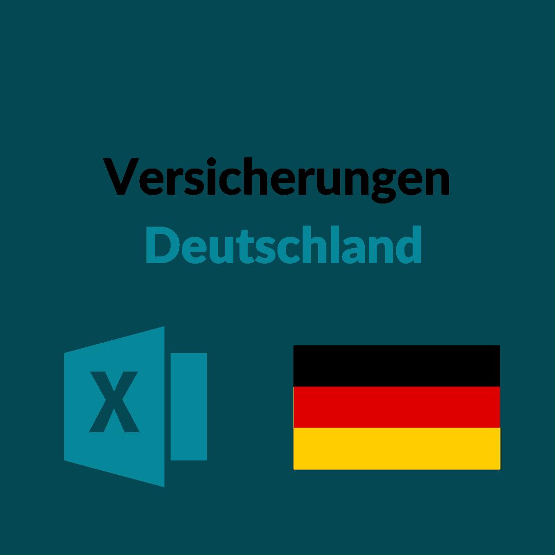 Liste Versicherungen Deutschland