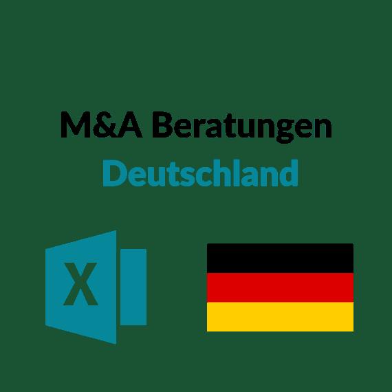 Liste M&A Corporate Finance Beratungen Deutschland