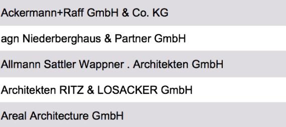 Liste Beste Architekten Deutschland