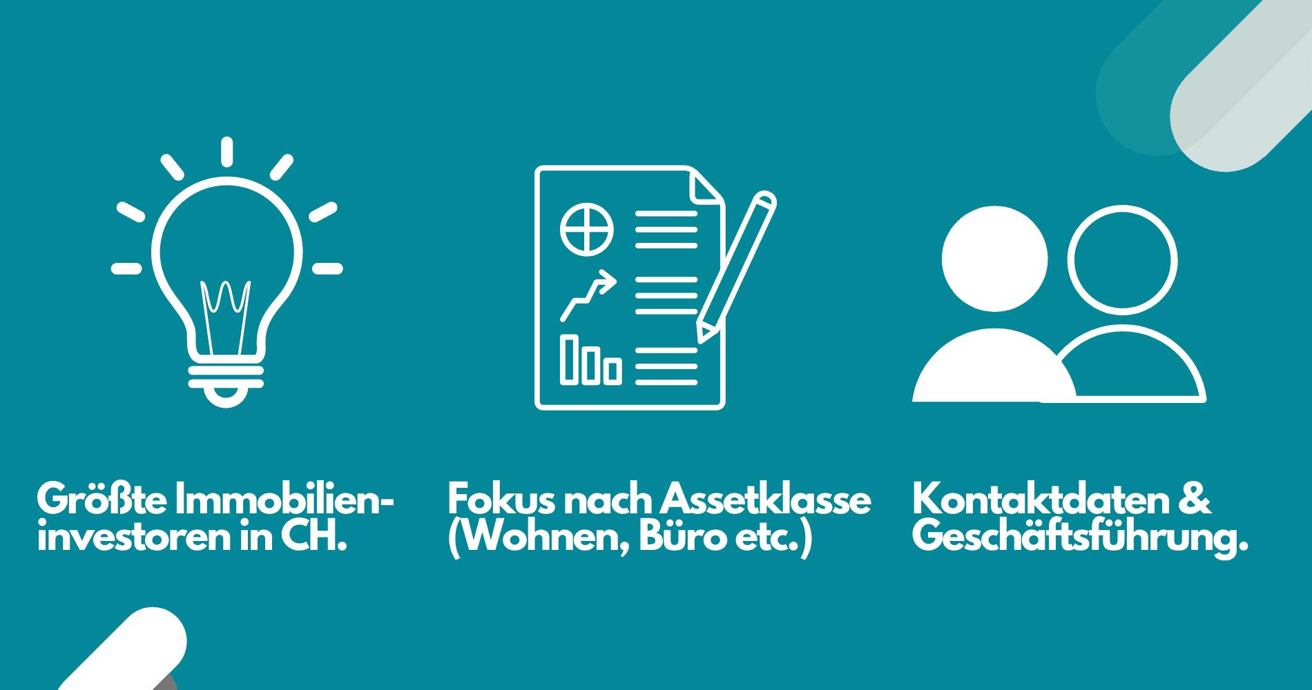 Daten Immobilieninvestoren Schweiz