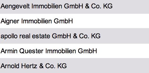 liste größter immobilienmakler deutschland