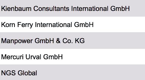 liste größte personalberatungen deutschland