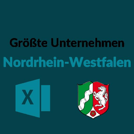 liste größte unternehmen nordrhein westfalen