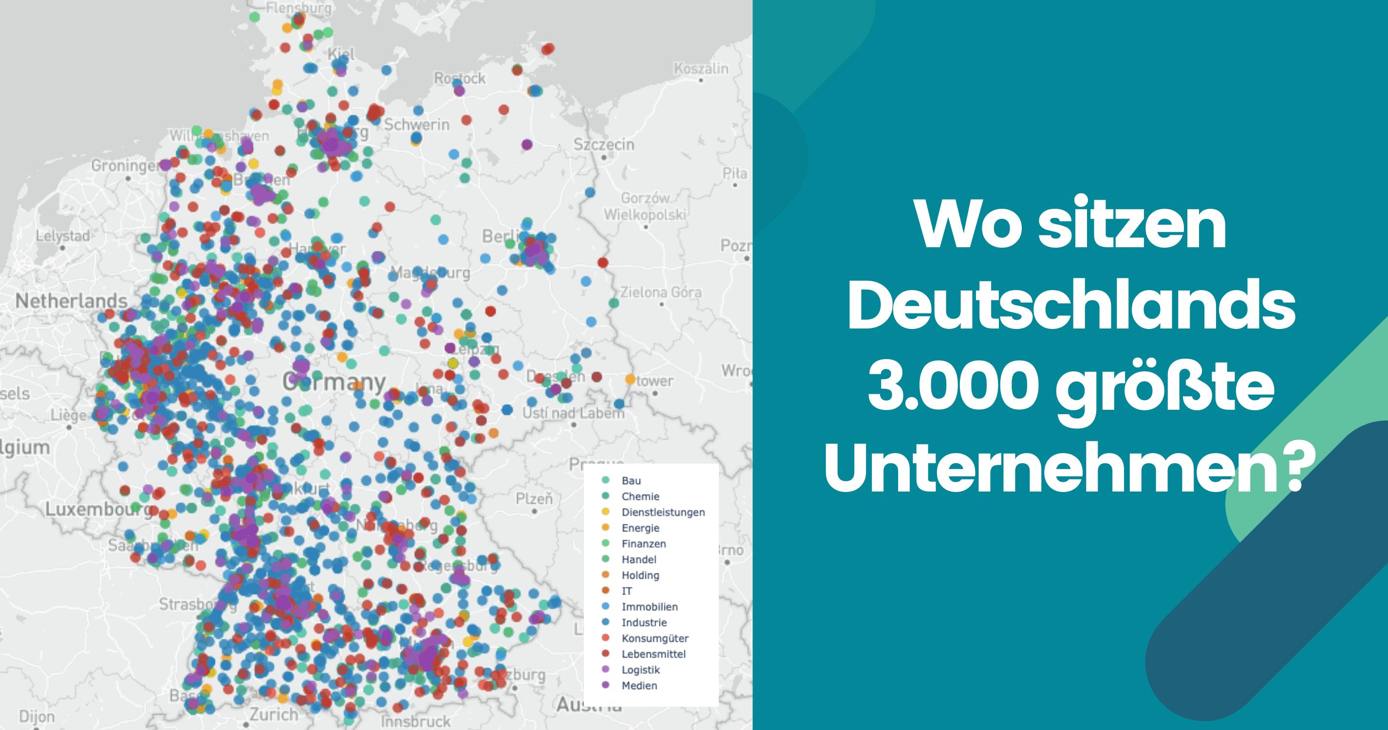 karte größte unternehmen deutschland