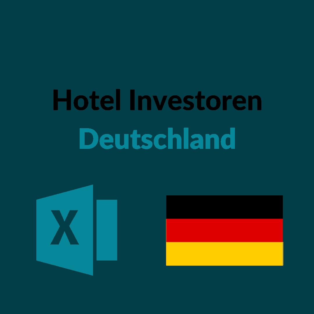 Liste der größten Hotel Investoren Deutschland