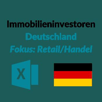 Datenbank Liste Investoren Handelsimmobilien DE