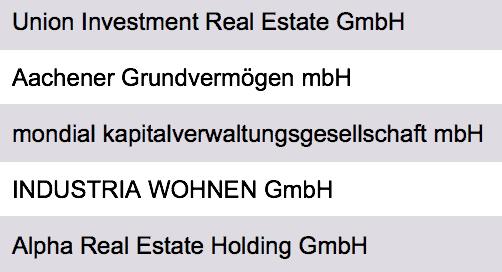 Wohnimmobilien Investoren Deutschland